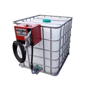 Bazin IBC 1000 litri cu pompa alimentare motorina model CUBE 56